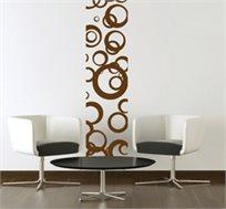 מדבקת קיר - סטריפ עיגולים, יוצרת פס רציף של דוגמא לאורך או רוחב הקיר