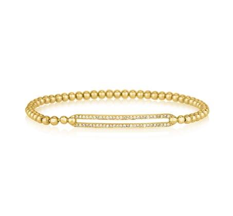 צמיד יהלומים סבינה - זהב צהוב