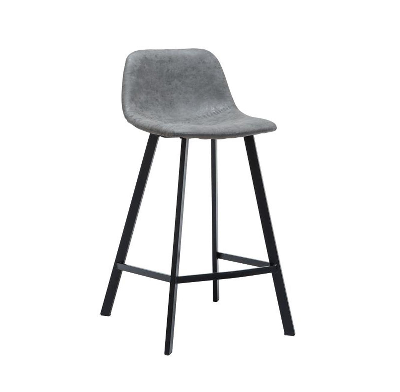 כסא בר מעוצב עם רגלי מתכת במגוון צבעים לבחירה  - תמונה 2