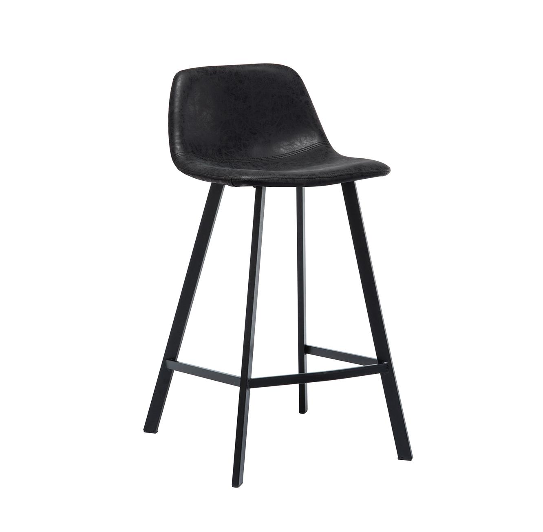 כסא בר מעוצב עם רגלי מתכת במגוון צבעים לבחירה  - תמונה 3