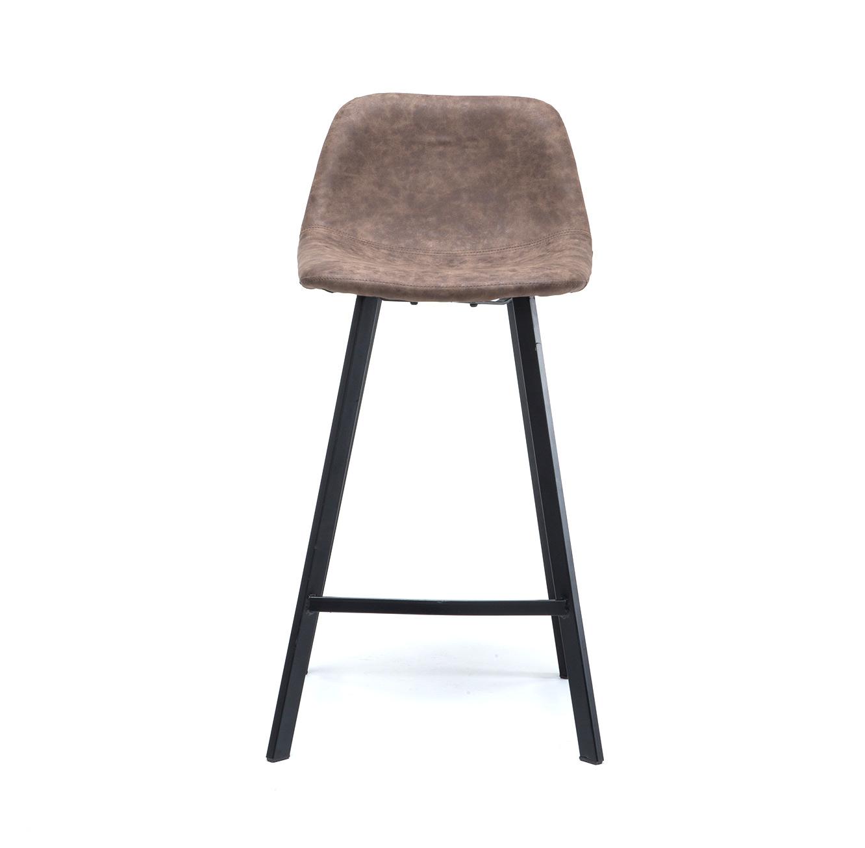 כסא בר מעוצב עם רגלי מתכת במגוון צבעים לבחירה  - תמונה 5