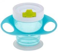 כוס ראשונה עם אחיזה קלה + קש מתקפל - Brother MAX - כחול