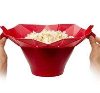 קערה להכנת פופקורן במיקרוגל בזמן הכנה של עד שלוש דקות עשויה מסיליקון קלה לניקוי BPATENT