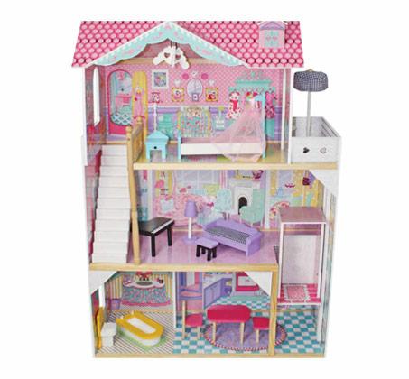 בית בובות מעץ דגם אלונה