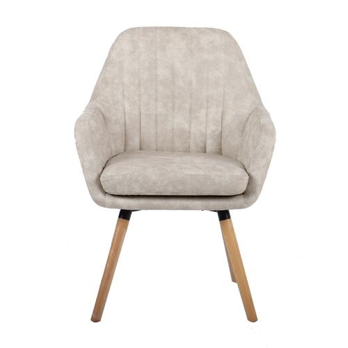 כורסא מעוצבת עם רגלי עץ מלא דגם דנבר HOME DECOR - תמונה 2