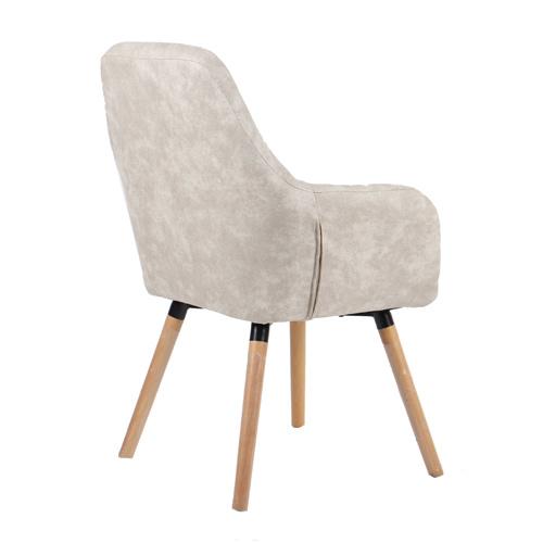 כורסא מעוצבת עם רגלי עץ מלא דגם דנבר HOME DECOR - תמונה 3