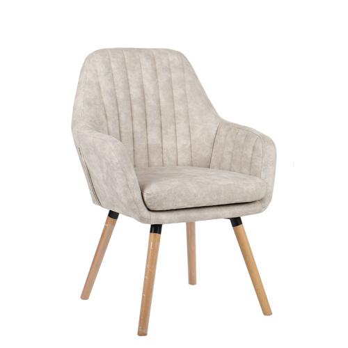 כורסא מעוצבת עם רגלי עץ מלא דגם DENVER