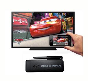 דונגל אלחוטי המזרים מדיה לטלוויזיה עם תמיכה בטאלבטים וסמארטפונים