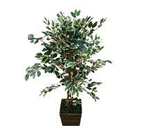 צמח נוי מלאכותי פיקוס בנימינה לעציץ