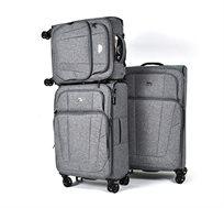 סט מזוודות בד 3 גדלים דגם לוטון - צבע לבחירה