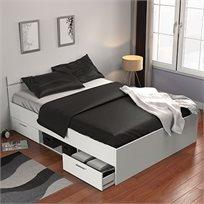 מיטה זוגית עם מגירות ותא אחסון 140X190 תוצרת צרפת דגם מישיגן HOME DECOR