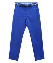 מכנסי אריג צינו פולו +חגורה
