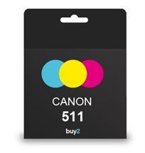 איכות ההדפסה! ראש דיו מקורי CANON 511 צבעוני, דיו איכותי למדפסת
