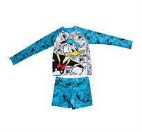 סט בגד ים שרוול ארוך דונלד דאק לילדים בצבע טורקיז