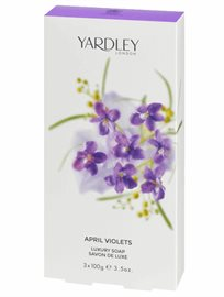 Yardley April Violets Soap Bar Trio