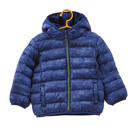 מעיל OVS מרופד עם כובע גדול לילדים - כחול