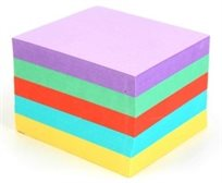 """ממו צבעוני איכותי גובה 6 ס""""מ (נייר 80 גרם)"""