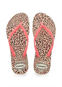 HAVAIANAS נשים // SLIM ANIMALS WHITE/CORAL