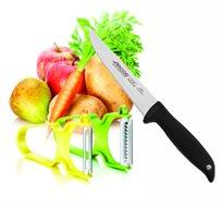 """2 קולפנים מסוג קלאסי וז'וליאן + סכין ירקות 15 ס""""מ מבית ARCOS"""