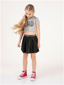 חצאית פליסה מבריקה