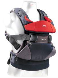מנשא לתינוק עם 3 תנוחות נשיאה M1 צבע שחור/אדום