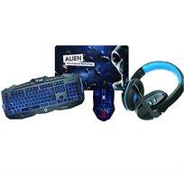 סט גיימריים הכולל מקלדת עכבר אוזניות ופד  CX6 BDK Gaming Set
