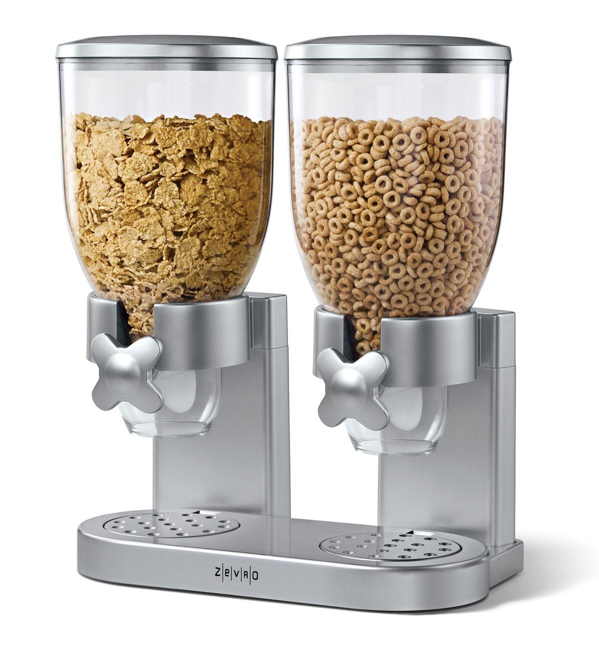 מתקן דגני בוקר כפול food appeal מעוצב ZEVRO בשני צבעים לבחירה  - משלוח חינם - תמונה 2