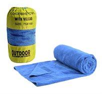 מגבת MICRO FIBER XL + סקוץ מגבת קלה נעימה לטיולים ומסעות סופחת מים ומתייבשת בקלות