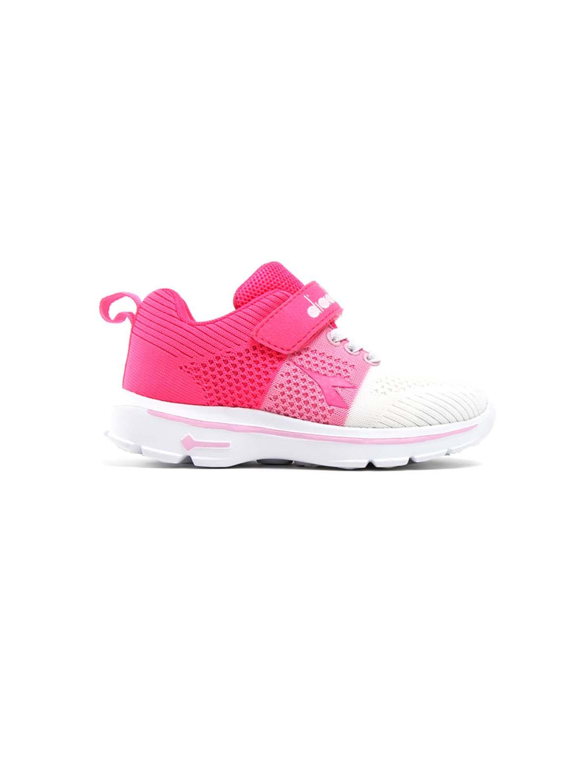 Diadora ילדות // נעלי ספורט ורוד פוקסיה / לבן