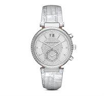 שעון יד אופנתי לאישה MICHAEL KORS עשוי פלדת אל חלד משובץ אבני סברובסקי ועמיד במים עד 100 מטר