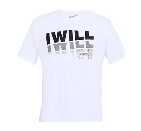 חולצת טי שרט עם הדפס Under Armour I Will 2.0 SS לגברים - לבן