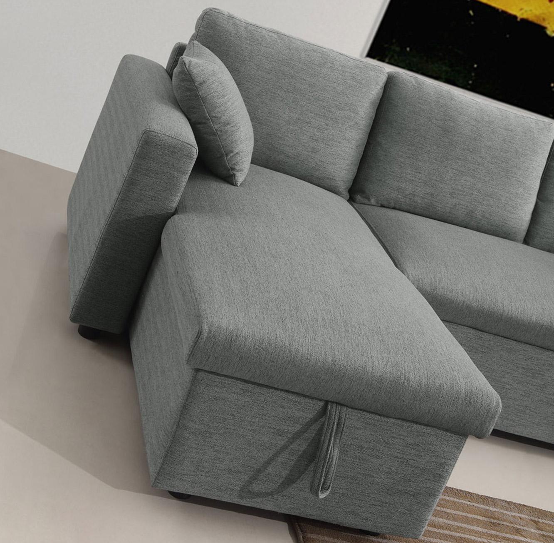 מערכת ישיבה פינתית נפתחת למיטה זוגית עם ארגז מצעים דגם MEZZO בצבעים לבחירה BRADEX - תמונה 5