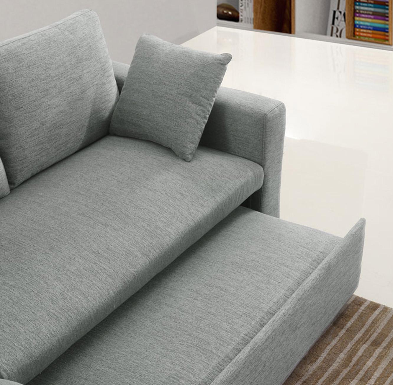 מערכת ישיבה פינתית נפתחת למיטה זוגית עם ארגז מצעים דגם MEZZO בצבעים לבחירה BRADEX - תמונה 8