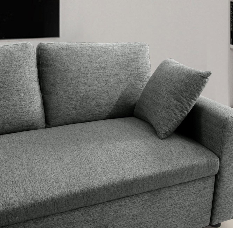 מערכת ישיבה פינתית נפתחת למיטה זוגית עם ארגז מצעים דגם MEZZO בצבעים לבחירה BRADEX - תמונה 4