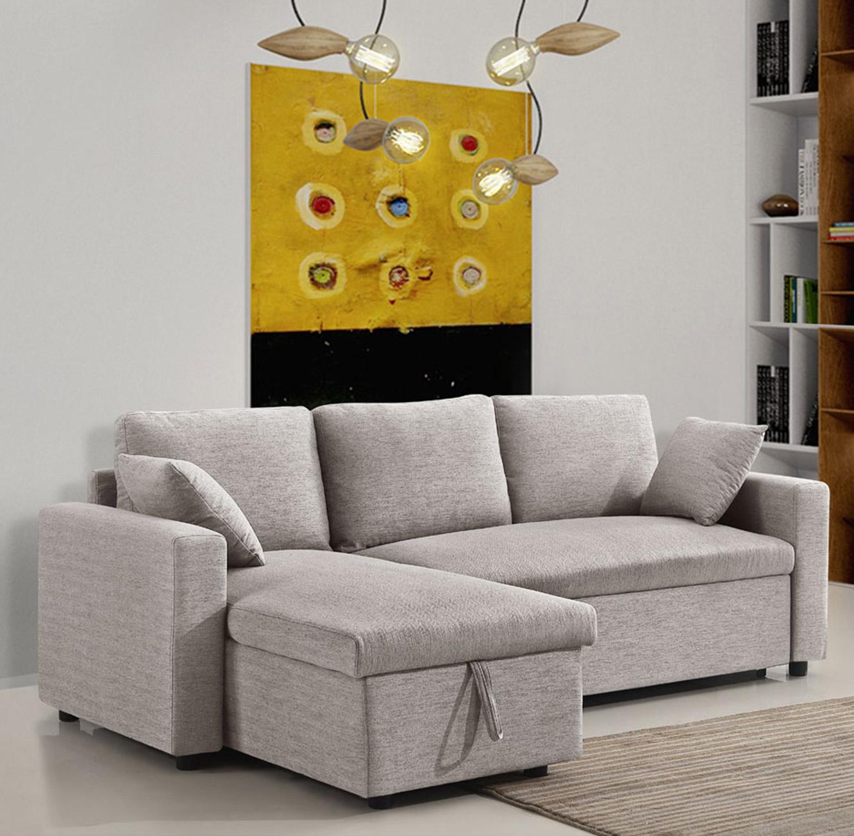 מערכת ישיבה פינתית נפתחת למיטה זוגית עם ארגז מצעים דגם MEZZO בצבעים לבחירה BRADEX - תמונה 2