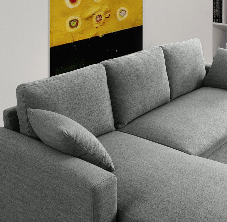 מערכת ישיבה פינתית נפתחת למיטה זוגית עם ארגז מצעים דגם MEZZO בצבעים לבחירה BRADEX - תמונה 6