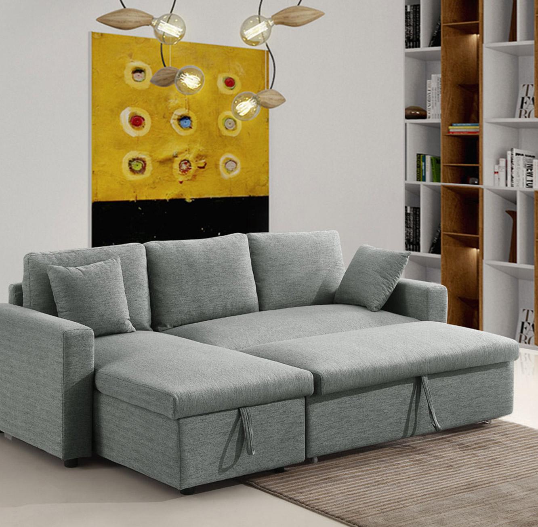 מערכת ישיבה פינתית נפתחת למיטה זוגית עם ארגז מצעים דגם MEZZO בצבעים לבחירה BRADEX - תמונה 3
