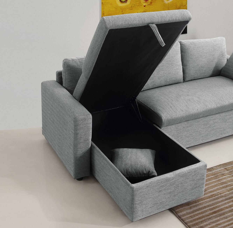 מערכת ישיבה פינתית נפתחת למיטה זוגית עם ארגז מצעים דגם MEZZO בצבעים לבחירה BRADEX - תמונה 7