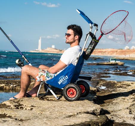 WHEELY - כיסא נוח מתקפל על גלגלים, שהוא גם עגלה לנשיאת ציוד - משלוח חינם - תמונה 3