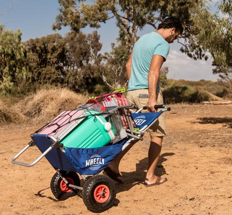 WHEELY - כיסא נוח מתקפל על גלגלים, שהוא גם עגלה לנשיאת ציוד - משלוח חינם - תמונה 5
