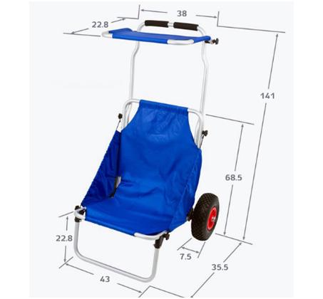 WHEELY - כיסא נוח מתקפל על גלגלים, שהוא גם עגלה לנשיאת ציוד - משלוח חינם - תמונה 6