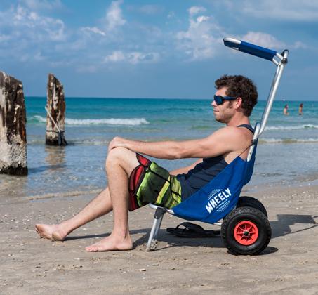 WHEELY - כיסא נוח מתקפל על גלגלים, שהוא גם עגלה לנשיאת ציוד - משלוח חינם - תמונה 4