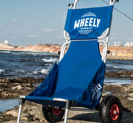 WHEELY - כיסא נוח מתקפל על גלגלים, שהוא גם עגלה לנשיאת ציוד - משלוח חינם - תמונה 2