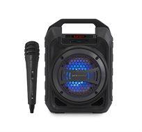 רמקול Bluetooth נייד כולל תאורת דיסקו ומיקרופון חוטי 10W Pure Acoustics דגם LX20