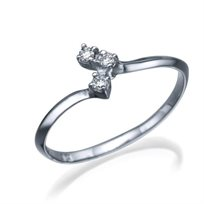 """טבעת יהלומים """"ברנדה"""" העשוייה זהב לבן או צהוב"""