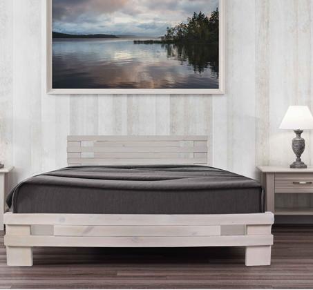 מיטה מעוצבת עשויה עץ אורן מלא וחזק במגוון צבעים לבחירה + מזרן קפיצים מתנה Olympia - תמונה 3