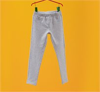 מכנסים סטרצ'יות OVS לילדות - אפור