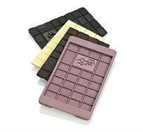 תבנית סיליקון להכנת חפיסת שוקולד עם דוגמת פרח צבעים לבחירה - LURCH