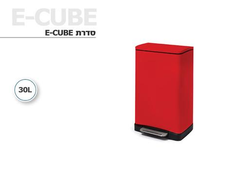 פח אשפה מרובע EKO בצבע אדום 30 ליטר - תמונה 2
