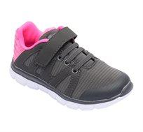 נעלי ספורט לילדים FILA דגם Aurele בצבעי אפור כהה וורוד פוקסיה